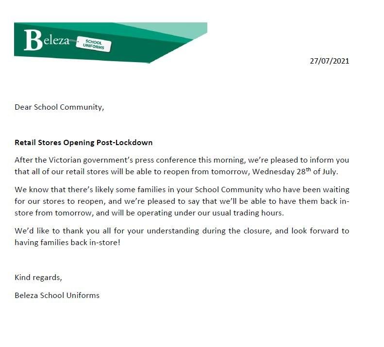Beleza letter